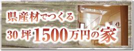 県産材でつくる30坪1500万円の家